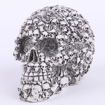 QT0005 Vintage Retro Skull Silicone Mould 3D Skull Head Moulds Halloween Soap Mold Candle Molds Handmade for Home Decoration
