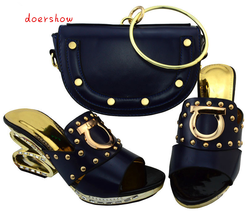 2017 African Women Shoes And Bags To Match Set Sale Fashion Pumps High Quality Latest Italian Shoes With doershow  YM1-10 shona women under patriarchy from feminism to african womanism