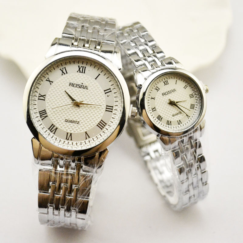 Couple Of High-End Men's Watch Quartz Watch Steel Belt Fashion Casual Lovers Wristwatch Manufacturers Direct Wholesale Jhlf