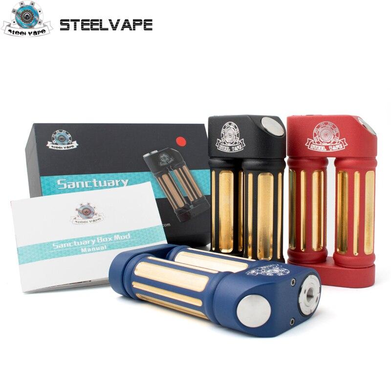 Steelvape Sanctuaire Boîte Mod Vapes Mode Mod Support Double 18650 Batterie Cigarette Électronique RDA RBA RDTA Réservoir