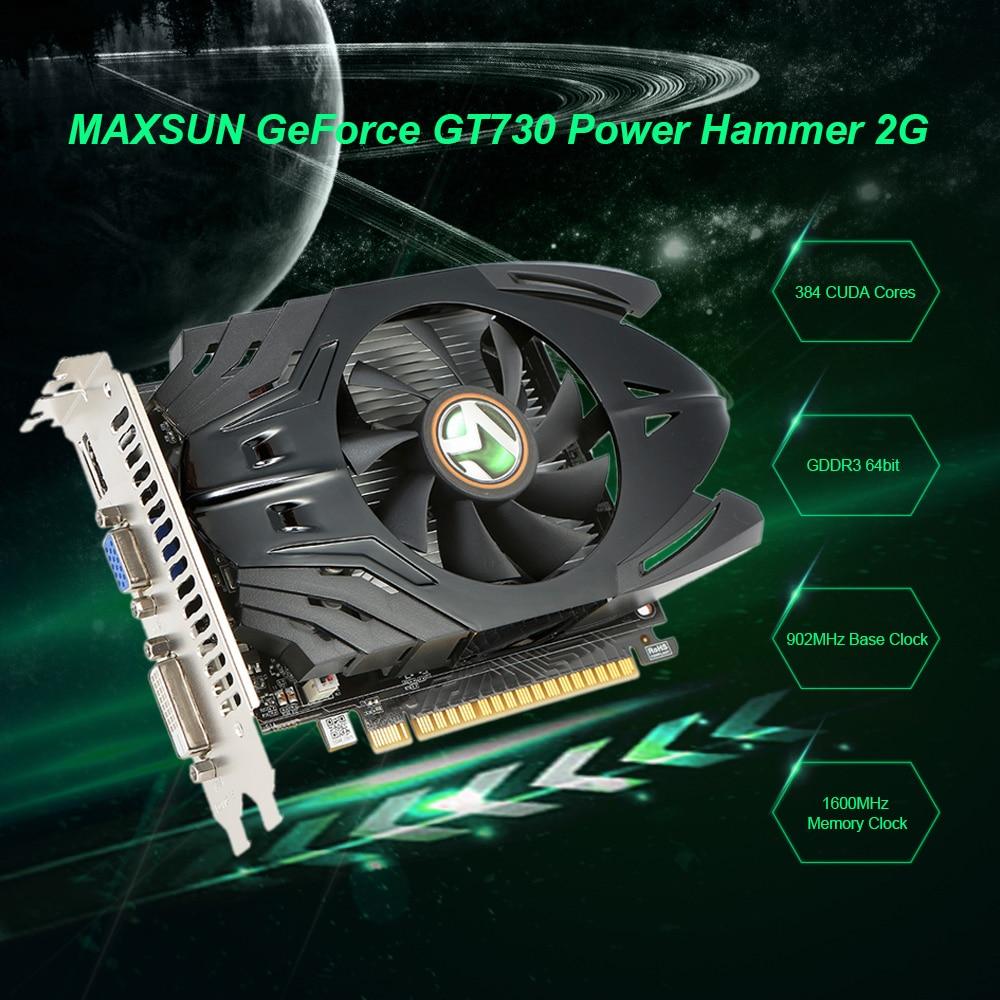 MAXSUN Graphics-Card GDDR3 Gaming-Video GT730 HDMI Geforce 2G DVI Computer-902mhz/1600mhz