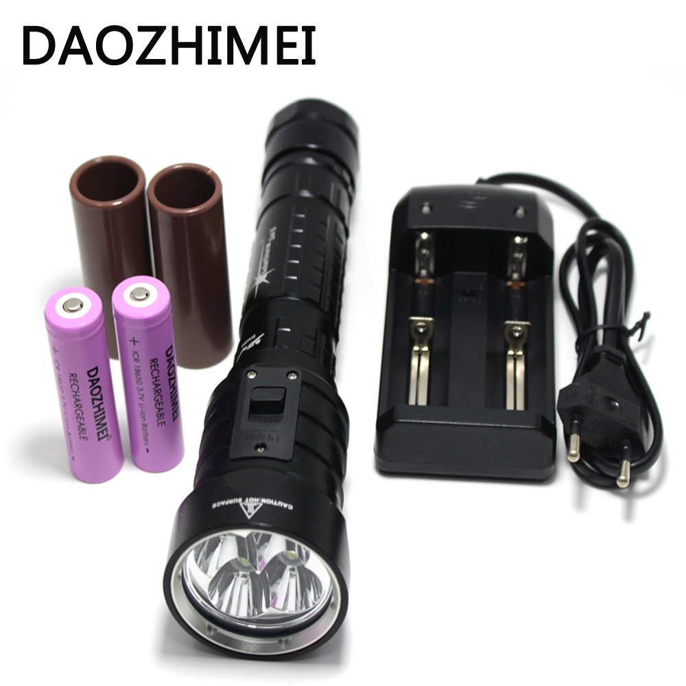 8000 Lumens DX4S LED Diving Flashlight 4* XM-L2 U2 Underwater 18650 26650 lumens