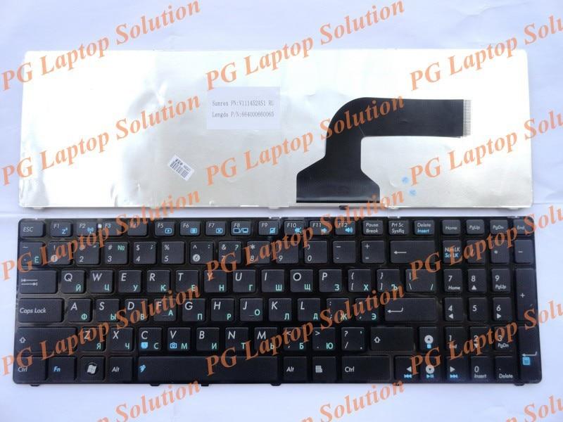 Russe ru clavier pour asus k52 x61 n61 g60 g51 k53s mp-09q33su-528 v111462as1 0kn0-e02 ru02 04gnv32kru00-2 v111462as1ru