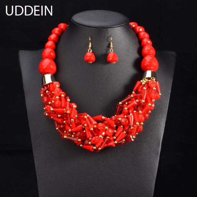 beads for handmade chunky multilayer necklace jewelry choker unique item fashion statement women bubble