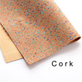 cork fabric Natural colorful dot cork leather natural Material Kork 60*90cm/23*35inch Cor-36