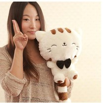 28cm Lovely Big Tail Large Face Cat Plush Toy Pillow Birthday Gift Free Shipping