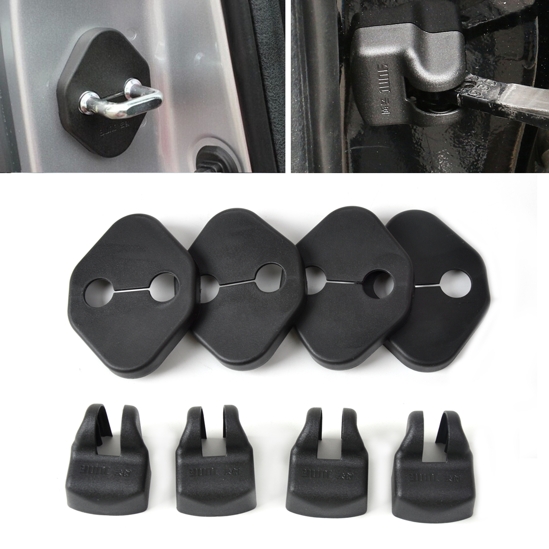 CITALL Car Door Striker Cover Lock Protector Stopper Buckle Case Cap Check Arm Cover For Toyota Camry Corolla 2011