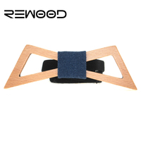 Rewood 2016 Brand Fashion Designer High Quality Business Wedding Official Party All Match Wooden Bow Tie