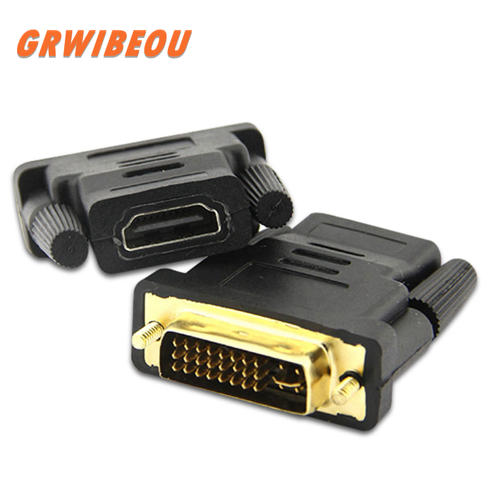 DVI 24 + 1 To HDMI Adapter Cables 24 K Gold Plated Plug Male To Female HDMI To DVI Cable Converter 1080 P For HDTV Projector