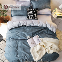 Liv-Esthete 2019 Classic Grid Bedding Set Single Double Queen King Bed Linen Soft Duvet Cover Flat Sheet Pillowcase For Adult(China)