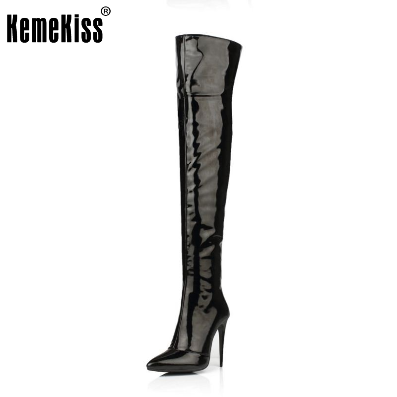 Plus Size 33-43 Botines Female Winter Boots Women Shoes Over Knee High Thigh Boots High Heel Suede Boots Botas Mujer Femininas women thigh high boots over the knee motorcycle boots winter and autumn woman shoes plus size 4 11 botas mujer femininas
