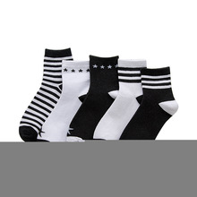 NEW 5pcs/lot women socks cotton Knitting Spring New Cotton Striped Star Sox Leisure Breathable Factory Wholesale SX3