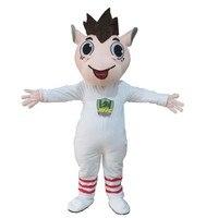 Horse Mascot Costume lovely walking horse white cloth fancy dress cosplay Anime theme mascotte carnival costume Halloween Gift