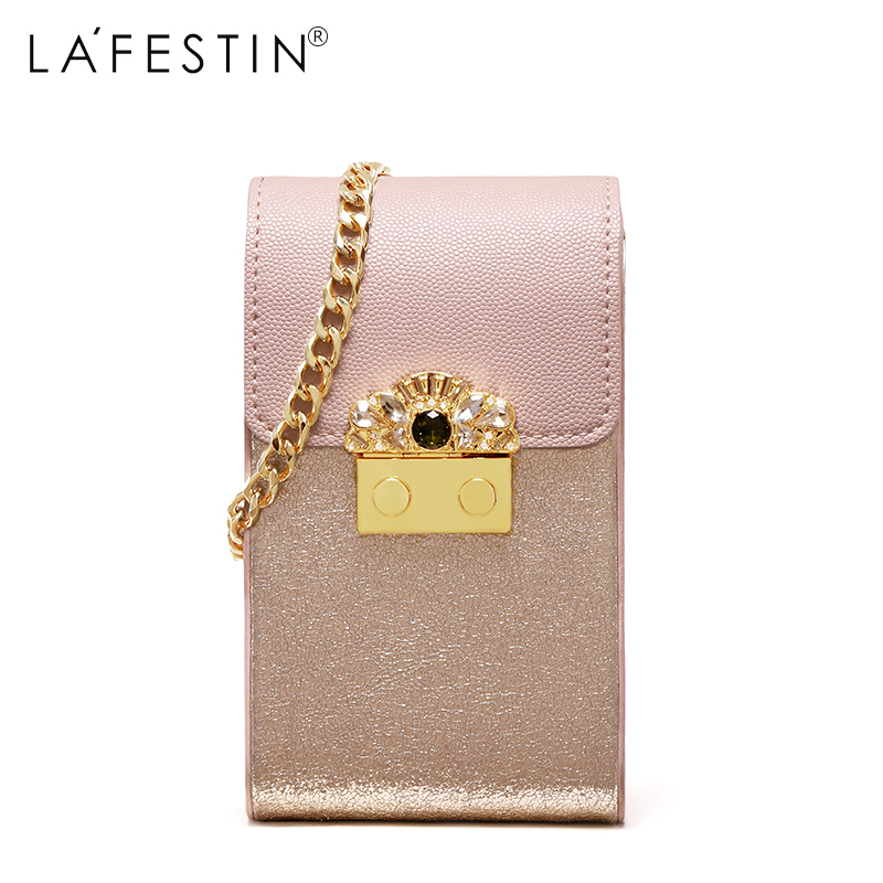 LAFESTIN Women Shoulder Bag Chain Mini Mobile Phone Shoulder Bag Fashion Brand  Small Messager Bag Bolsa 28eb6ddbdd5c