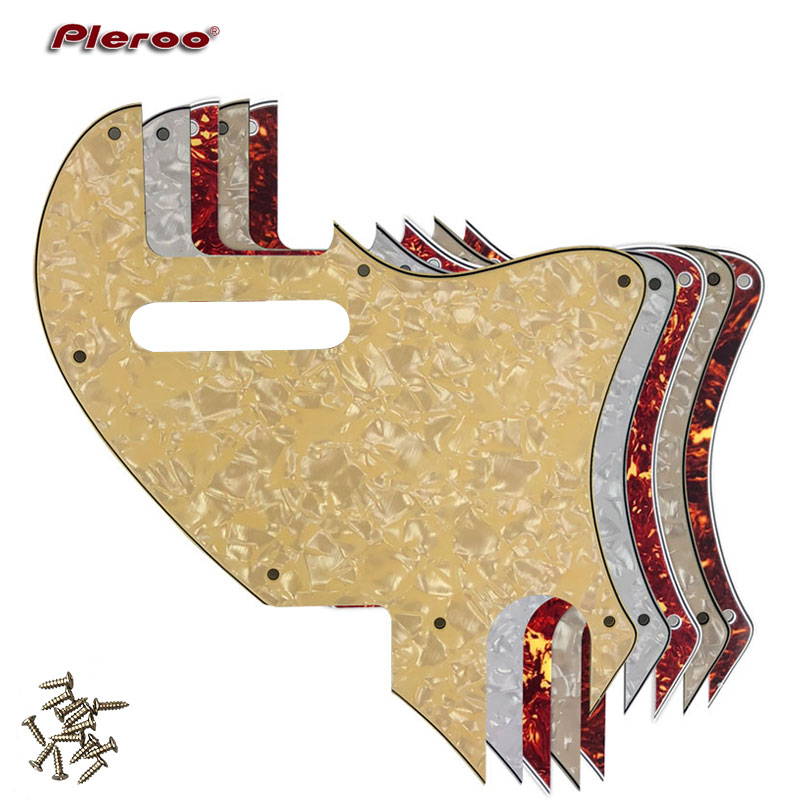 Pleroo Guitar Parts - For US Telecaster Tele F hole Hybrid Guitar Pickguard Scratch Plate Tele Conversion Support customization