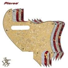 Pleroo Guitar Parts - For US Telecaster Tele F hole Hybrid Pickguard Scratch Plate Conversion Support customization