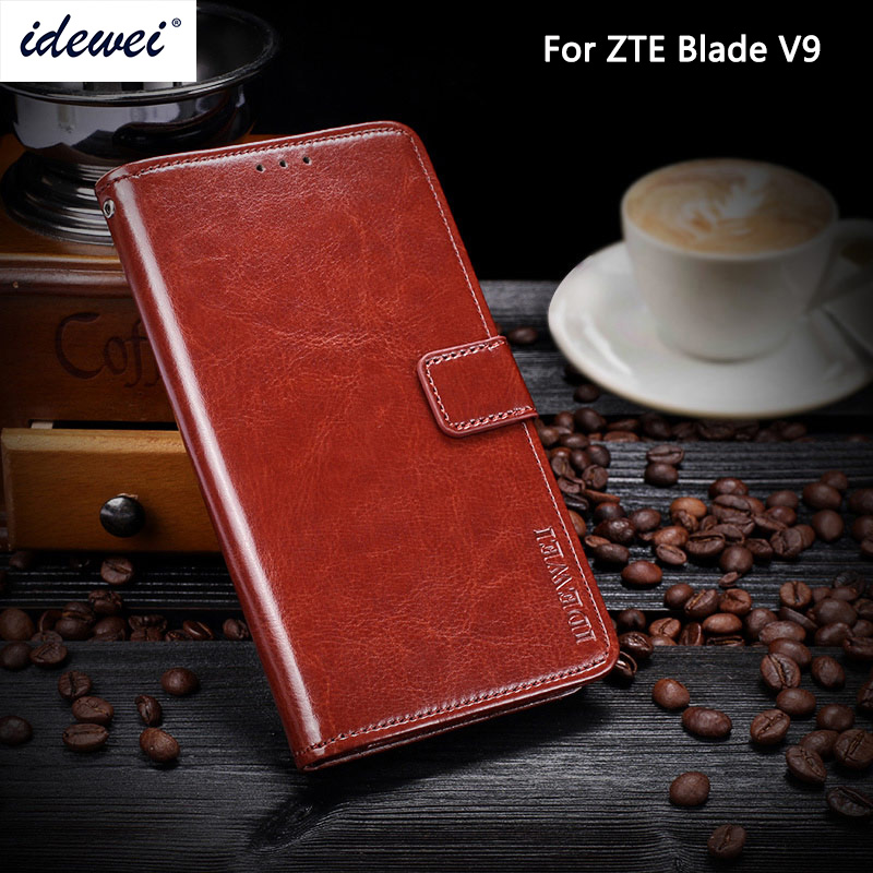ZTE Blade V9 Case Cover Luxury Leather Phone Case For ZTE Blade V9 Protective Flip Case Wallet Case