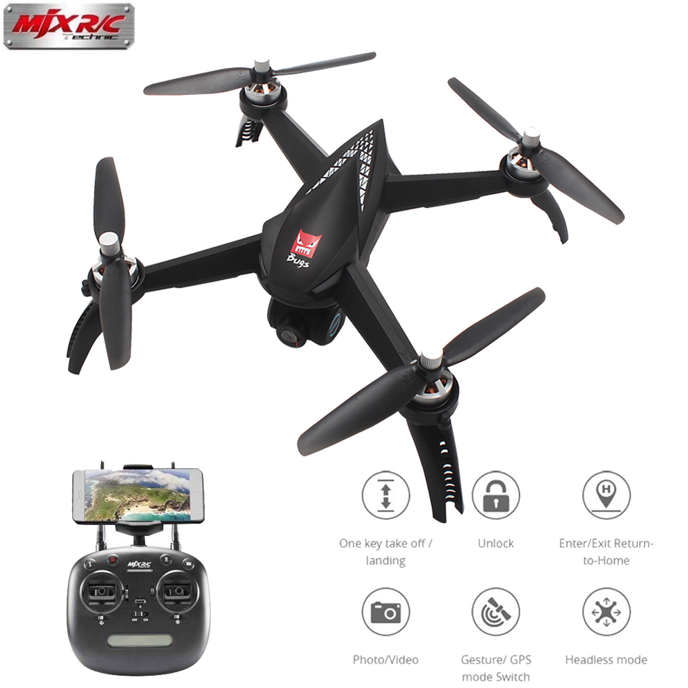 MJX Bugs 5W B5W RC Drone with WIFI FPV 1080P HD Camera GPS Follow Me Mode RC Quadcopter VS MJX B2W RC Helicopter SYMA X8PRO