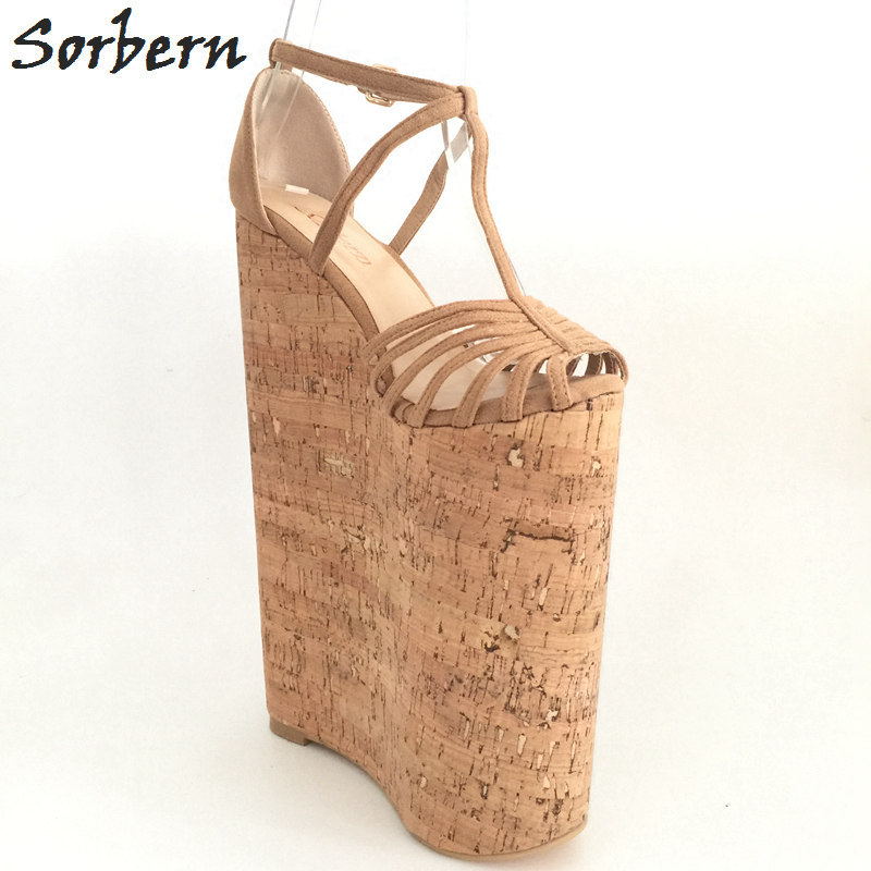 Sorbern Extreme High Heels Luxury Shoes Women Designers Summer Sandals For Women Wedges Platform Customized Large Size 33-46 phyanic 2017 gladiator sandals gold silver shoes woman summer platform wedges glitters creepers casual women shoes phy3323