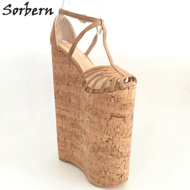 fbba85b6a Sorbern Extreme High Heels Luxury Shoes Women Designers Summer Sandals For Women  Wedges Platform Customized Large