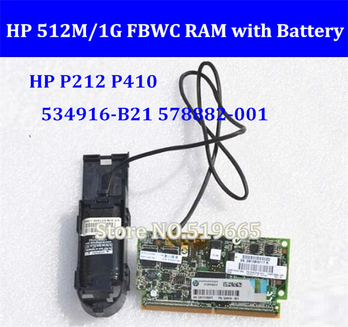 FOR HP P212 P410 Raid Card 512M/1G  FBWC RAM  Cache With Battery 534916-B21 578882-001 571436-002