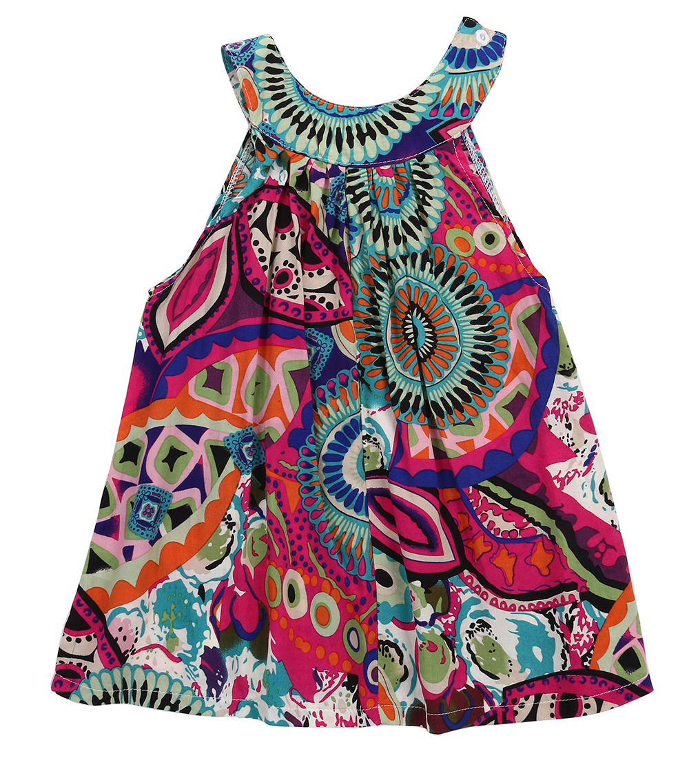 3 8Y Toddle Kids Clothes Summer Girls font b Dress b font Sleeveless font b Floral