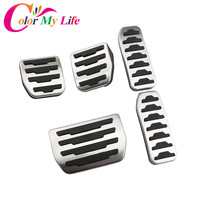 Color My Life Car Stainless Steel And Rubber Gas Fuel Pedal Brake Pedals For Jaguar F