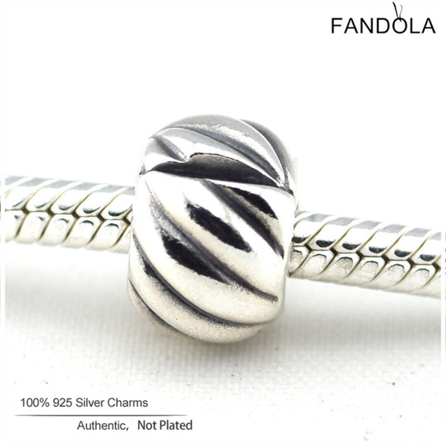fdee623ec Feathered Clip Charms Fits Pandora Snake Bracelets 925 Sterling Silver  Europe Stopper Beads DIY Jewelry Making for Women