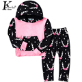 KEAIYOUHUO Children Clothing Sport Suit Baby Girls Clothes Set Hooded Outfits Suit Deer Costume For Kids Long Sleeve Sets Boys
