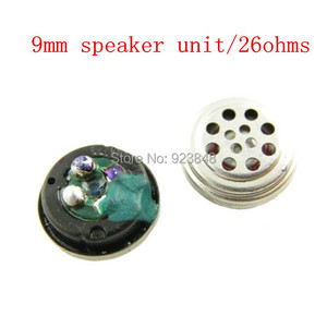 Speaker unidade 9 MM unidade de ouvido 26 ohms 2 pcs