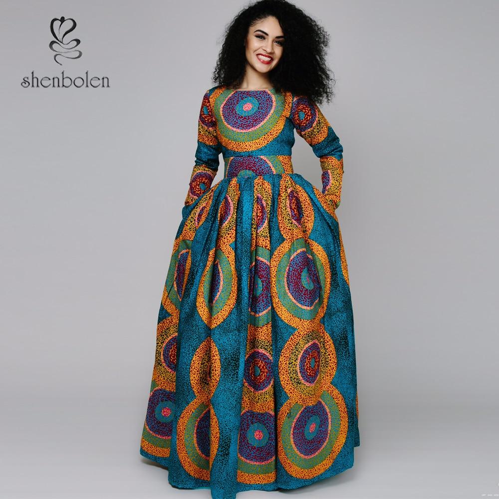2017 spring new Africa Clothing elegant round collar ...