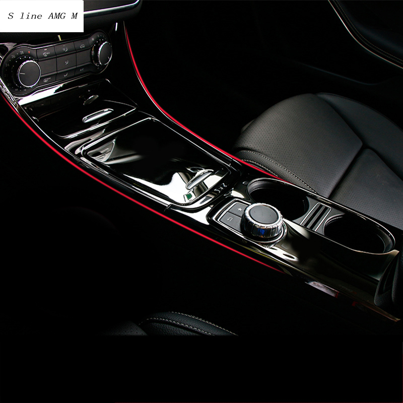 Car Styling Central Storage Box Frame Trim Car Air Conditioning Water Cup Panel Trim Cover For Mercedes Benz CLA C117 GLA X156