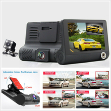 2017 New HD 1080P Car Dvr 3 Camara Lens Rear View 4 0 Inch IPS Screen