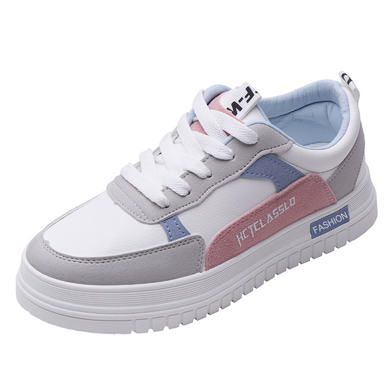 New Women Casual Shoes Spring Summer Sneakers Leather Creepe