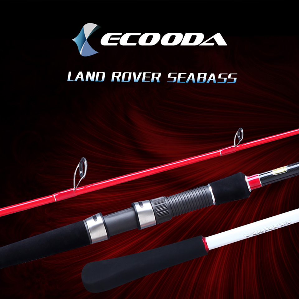 Ecooda Land Rover Seabass Fishing Rod 2 Sections Strong Casting Spinning Carbon Fiber Lure Fishing Stick Cane FUJI Parts Rings
