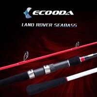 Ecooda Land Rover сибаса Удочка 2 секции сильные литье спиннинг углеродного волокна строю трость FUJI Запчасти кольца