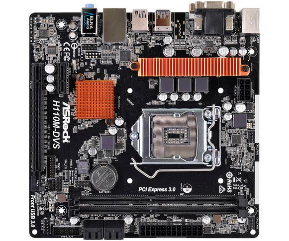 US $98 06 |H110M DVS R3 0 1151 motherboard VGA + DVI DDR4 memory support  seven generations-in Motherboards from Computer & Office on Aliexpress com  |