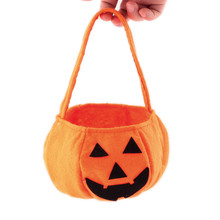 Lovely pet Free Shipping Halloween Party Kids Smile Pumpkin Bag or Candy Bag Childrens funny cute storage bag Jul29