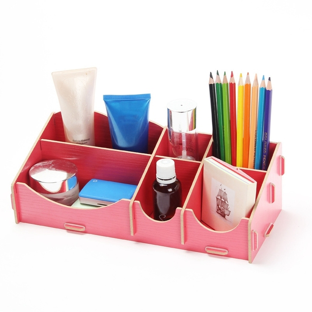 Wooden Makeup Organizer Jewelry Box Storage Box Cosmetic Organizer