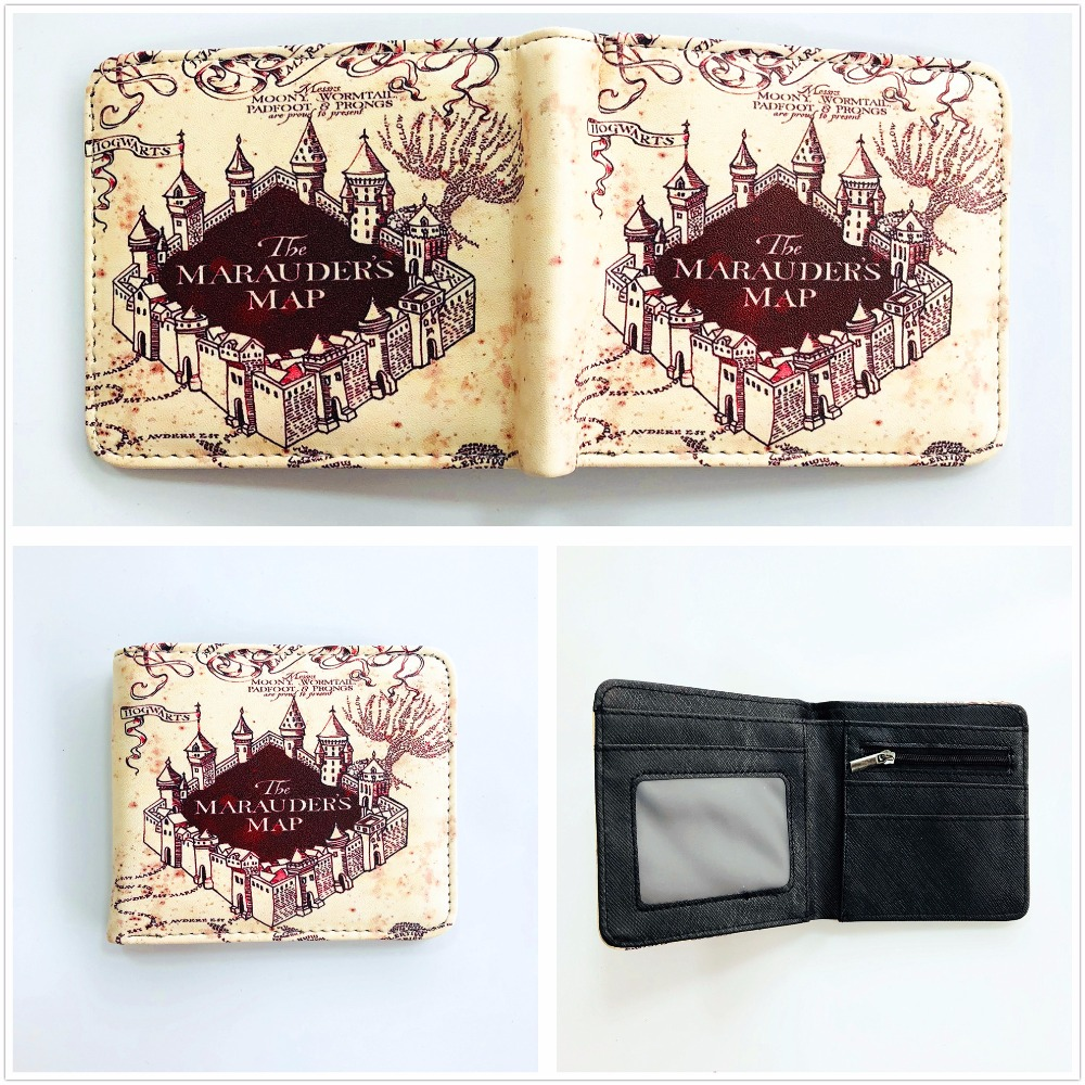 Harry Potter Short Wallet Hogwarts Express The Marauder's Map Cool Design Short PU Purse Card Holder Wallet W968Y 2016 new arriving pu leather short wallet the price is right and grand theft auto new fashion anime cartoon purse cool billfold