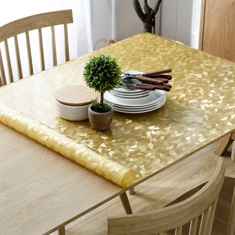 2018 new 1mm thick pvc plastic table cloth for home dining table decor crystal board placemats