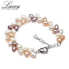 Drop shipping fresh water pearl bracelets,multi color cultured bracelets wedding