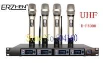 Erzhen U-F4000 micrófono uno con cuatro etapa KTV micrófono inalámbrico micrófono inalámbrico