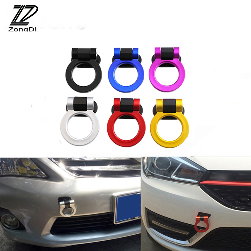 ZD Car Auto Trailer Ring V Racing Tow Towing Hook Stickers For Volvo S60 V70 XC90 Subaru Forester Peugeot 307 206 308 407 2008 volvo fh4х2 2008 года