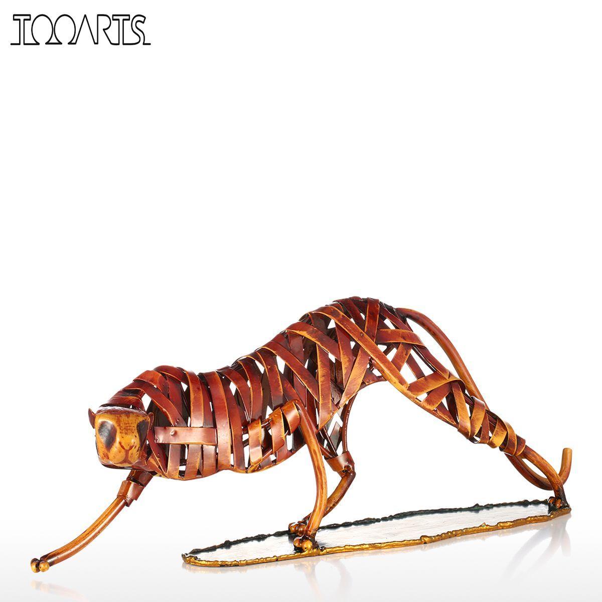 Compra esculturas de hierro forjado online al por mayor de for Decoracion hogar leopardo