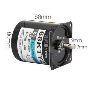 Image 2 - 68KTYZ 68 KTYZ 28W AC 220V Permanent Magnet Synchronous Gear Motor 2.5RPM 5RPM 10RPM 15RPM 20RPM 30RPM Adjustable direction