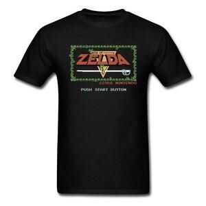 Légende de Zelda T-shirt Vintage noir T-shirt Gamer T-shirt Zelda hauts jeu t-shirts jeunesse GG vêtements coton tissu lettre imprimée