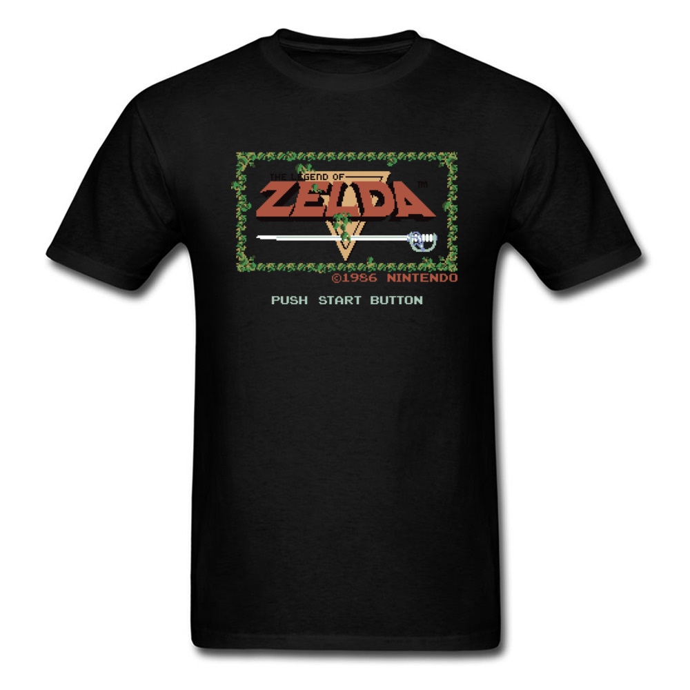Legend Of Zelda T-shirt Vintage Black Tshirt Gamer T Shirt Zelda Tops Game Tees Youth GG Clothes Cotton Fabric Letter Printed