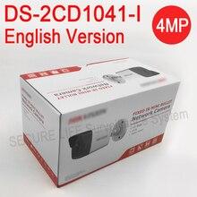 Angielski versionDS 2CD1041 I wymień DS 2CD2032F I DS 2CD2035F I 4MP MINI bullet POE kamera IP, kamera do monitoringu cctv H.264 +