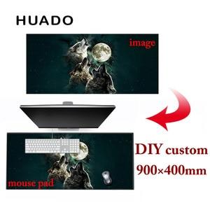 Image 5 - 900*400 ミリメートル diy カスタムのマウスパッドマットのラップトップキーボードマット xl overwatch/cs 行く/世界 warcraft の